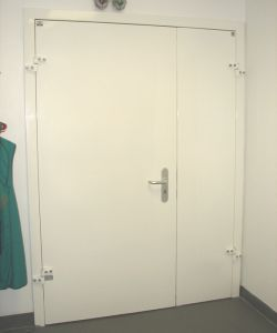 Рентгенозащитная дверь двупольная 1,0мм 1320-1500х2080мм