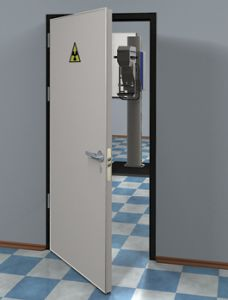 Рентгенозащитная дверь однопольная 0,5мм 600-1040х2080мм